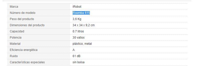 cual es el mejor robot aspirador, mejores aspiradoras, roomba comparativa , servicio tecnico roomba, amazon robot aspirador, roomba 681, robot roomba 980, roomba 765, aspiradora oferta, roomba carrefour , comparativa robot aspirador, rumba robot, aspirador roomb, Irobot Roomba 615, Irobot Roomba en Valencia