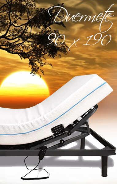 ▷ CAMA ARTICULADA Reforzada Duermete 90x190 + Colchón y Control