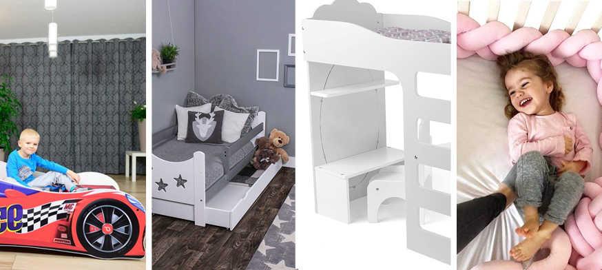 camas para niños bajitas, cama para niños pequeños, barandas para cama de niños